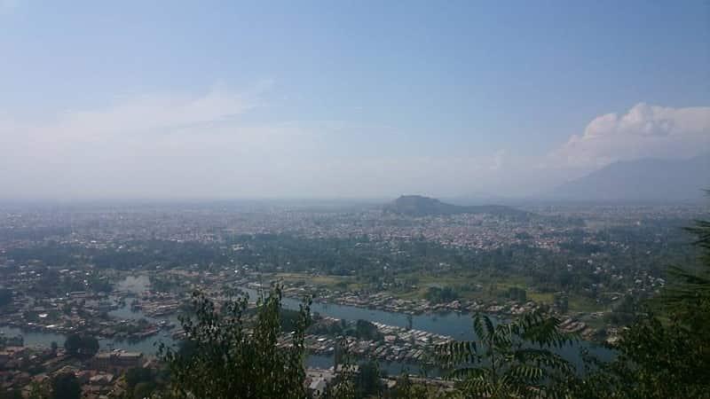 Srinagar City View from Shankarcharya Temple