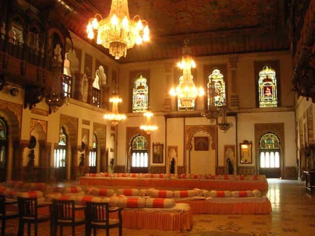 Darbar Hall at the Laxmi Vilas Palace