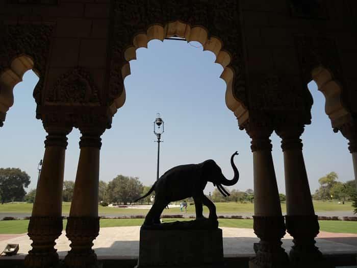 Elephant Statue at the Laxmi Vilas Palace