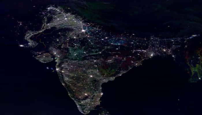 India During Diwali from Space