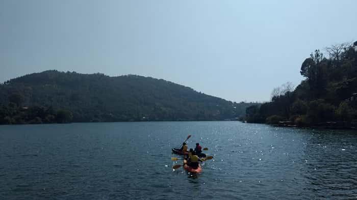 Kayaking in Naukuchiatal