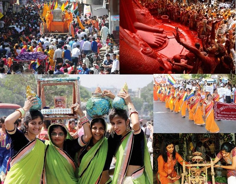 Devotee Celebrating Mahavir Jayanti